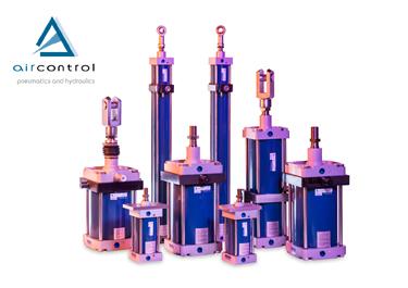 Aircontrol diseña y fabrica cilindros neumáticos a medida así como cilindros neumáticos conforme a las normas ISO 6431, ISO 6432 y CNOMO.