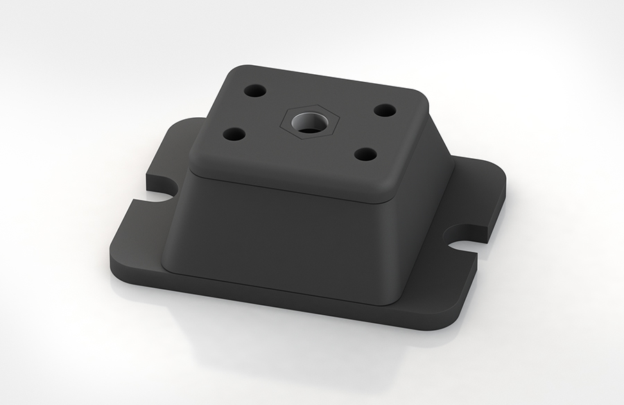 Aircontrol distribuye aisladores de caucho-metal ACE modelo COM. Soportes de compresión.
