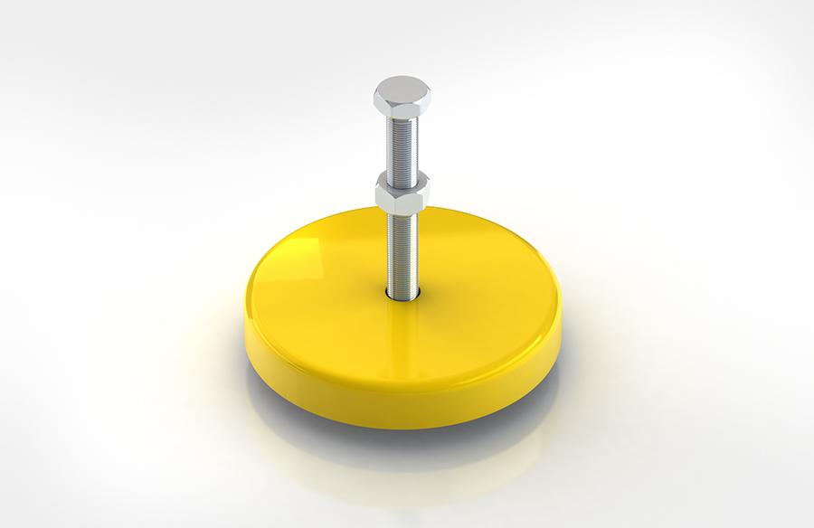 Aircontrol distribuye aisladores de caucho-metal ACE modelo LEV. Montajes de nivelación.