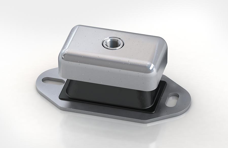Aircontrol distribuye aisladores de caucho-metal ACE modelo SFM Soportes flexibles estables.