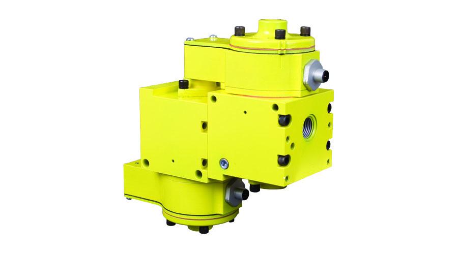 Aircontrol distribuye Soluciones relacionadas con la seguridad con retorno seguro del cilindro Válvula de retención con detección de posición del pistón, accionada por piloto redundante SV27