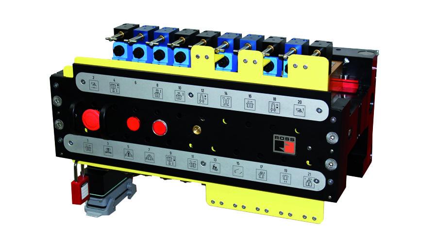 Aircontrol distribuye válvulas para la industria del vidrio, Bloque de 21 válvulas